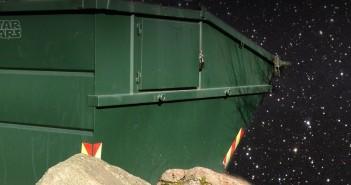 Grön container i rymden