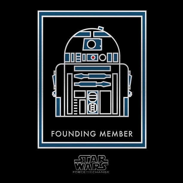 Star Wars Force For Change - Reward Badge R2D2