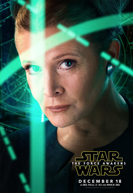 Princess Leia - The Force Awakens Poster