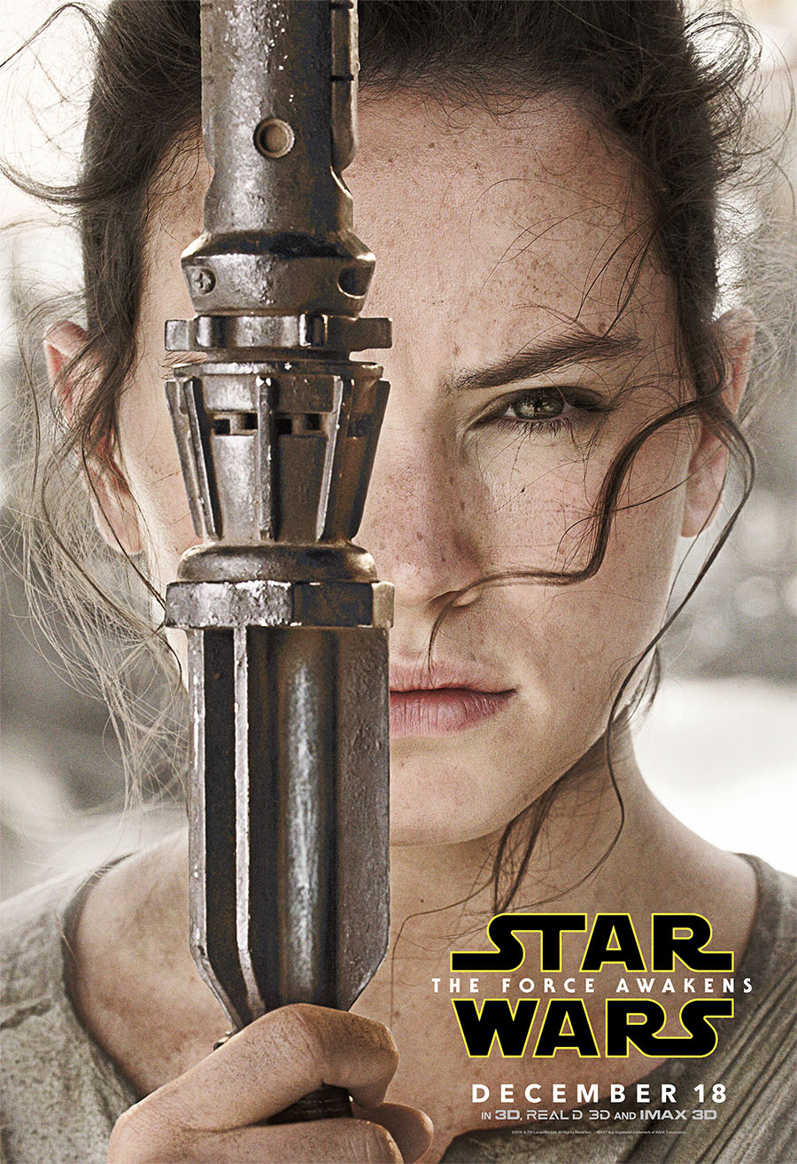 Rey - The Force Awakens Poster