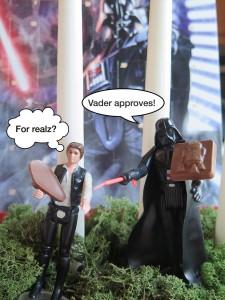 Darth Vader och Han Solo med chokladbitar