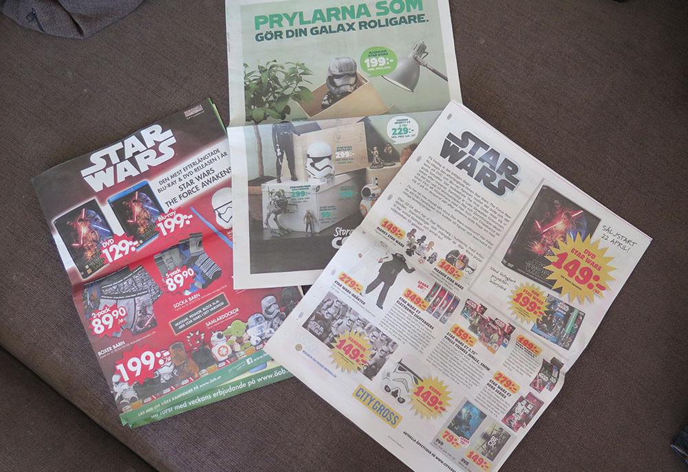 Star Wars-tema i matbutiker runt om i landet