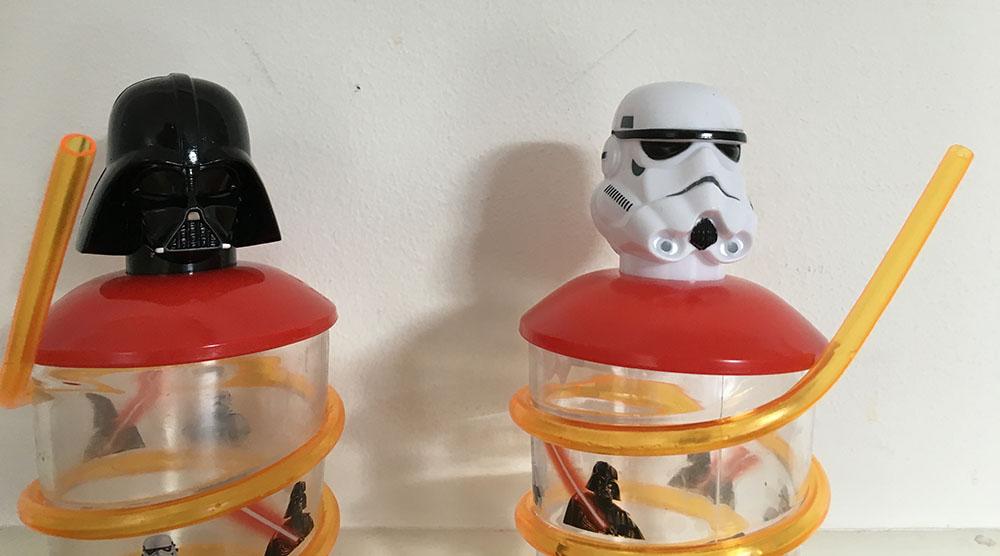Star Wars-muggar med snurrsugrör
