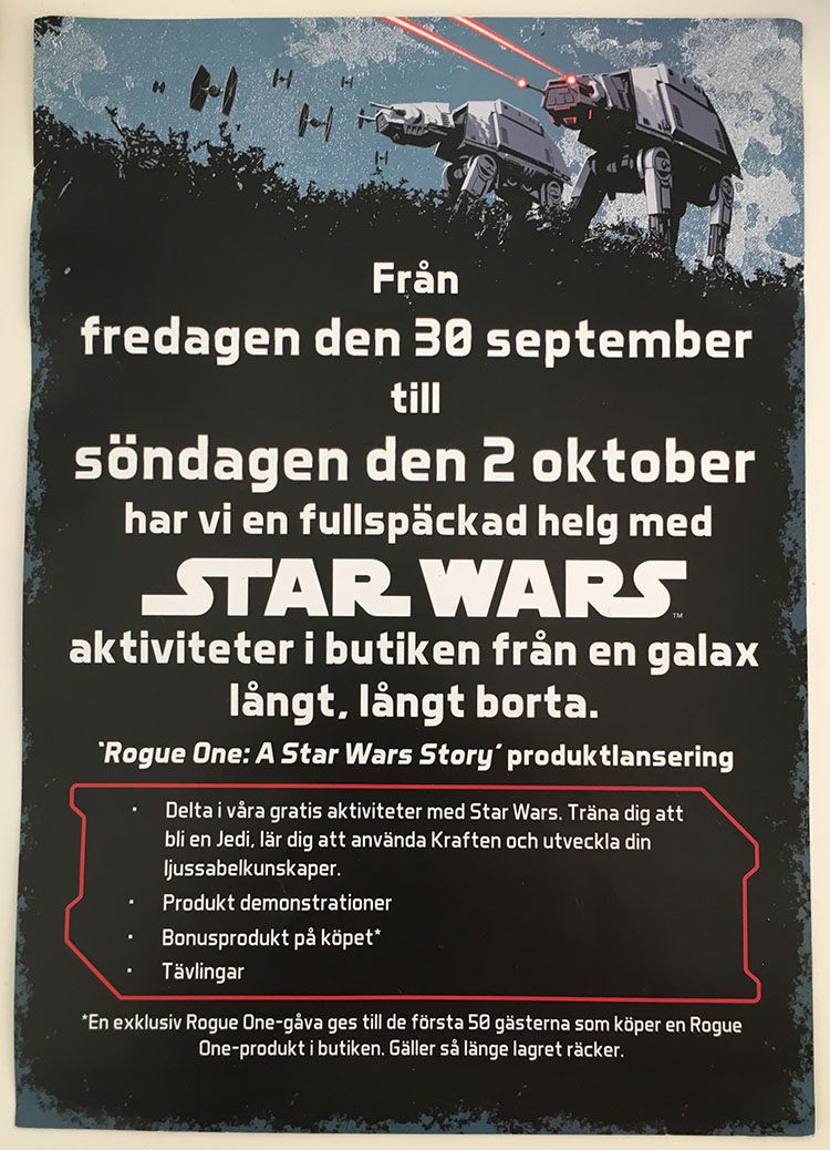 Force Friday hos Disney Store, Mall of Scandinavia